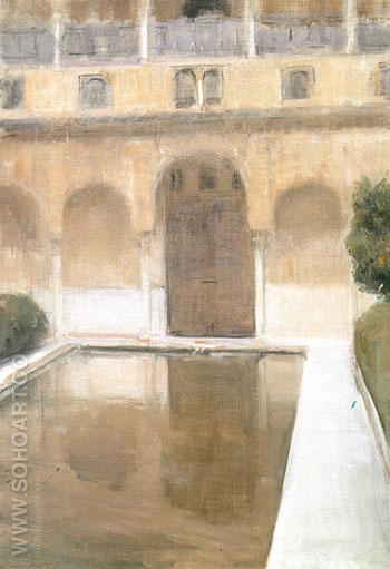 The Patio de La Alberca Granada 1917 - Joaquin Sorolla reproduction oil painting