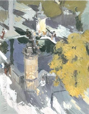 Fountain of the Mosque Cordon 1910 - Joaquin Sorolla reproduction oil painting