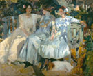 Senora de Sorolla and Her Daughters 1910 - Joaquin Sorolla reproduction oil painting