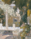 Garden of the Sorolla Residence 1920 - Joaquin Sorolla reproduction oil painting