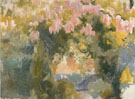 Garden of the Sorolla Residence c1918 - Joaquin Sorolla reproduction oil painting