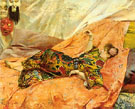 A Portrait of Sarah Bernhardt Reclining in a Chinois Interior - Georges Antoine Rochegrosse