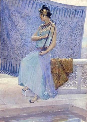 Etude De Chanteuse Algerienne - Georges Antoine Rochegrosse reproduction oil painting