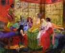 Harem Girls in an Aviary - Georges Antoine Rochegrosse