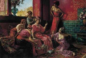 La Toilette 1921 - Georges Antoine Rochegrosse reproduction oil painting