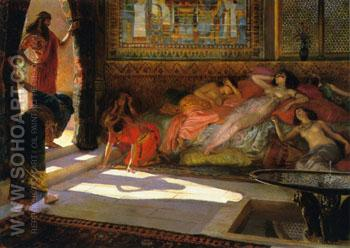 New Arrivals Harem 1890 - Georges Antoine Rochegrosse reproduction oil painting
