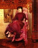 Portrait De Lepouse De Lartiste Dans Latelier - Georges Antoine Rochegrosse