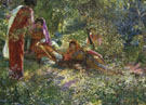 Young Women Resting in the Garden At El Biar in Algiers - Georges Antoine Rochegrosse