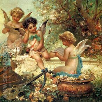 Angels - Hans Zatzka reproduction oil painting