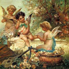 Angels - Hans Zatzka reproduction oil painting
