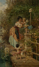 Bruckenzoll - Hans Zatzka reproduction oil painting