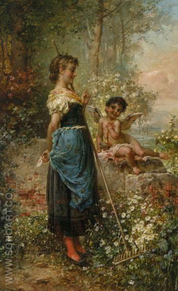 Der Liebesbrief - Hans Zatzka reproduction oil painting