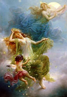 In The Night Sky - Hans Zatzka