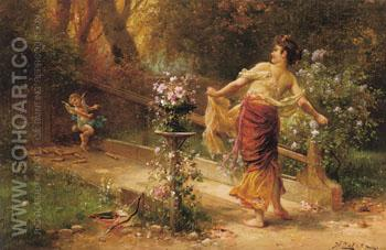 Skittles - Hans Zatzka reproduction oil painting