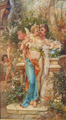 Spring Love - Hans Zatzka reproduction oil painting