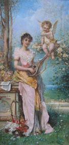 Spring Song - Hans Zatzka reproduction oil painting