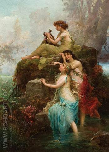 Symphony of the Water Nymphs - Hans Zatzka reproduction oil painting