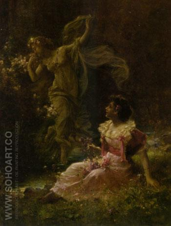 The Daydream of Demeter - Hans Zatzka reproduction oil painting
