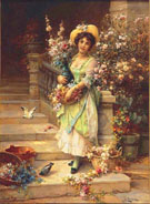 The Flower Seller - Hans Zatzka