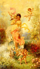 The Goddess of Spring - Hans Zatzka reproduction oil painting