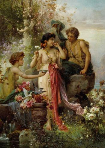 The Love Offering - Hans Zatzka reproduction oil painting