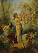 Venus with Putti and Attendants - Hans Zatzka