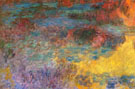 Water Lily Pond Evening Left Detail 1926 - Claude Monet reproduction oil painting