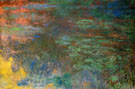 Water Lily Pond Evening Right Detail 1926 - Claude Monet reproduction oil painting