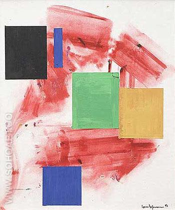 Polyhymnia 1963 - Hans Hofmann reproduction oil painting