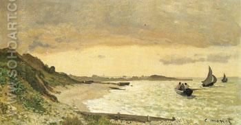 View of the Coast at Sainte Adresse 1864 - Claude Monet reproduction oil painting