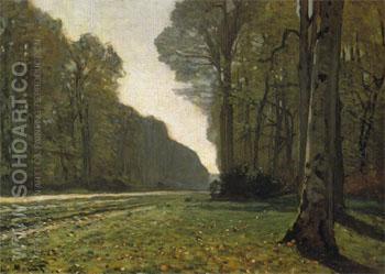 The Road from Chailly 1865 - Claude Monet reproduction oil painting