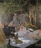 Le Dejeuner sur I Herbe 1865 - Claude Monet