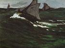 The Green Wave 1865 - Claude Monet reproduction oil painting