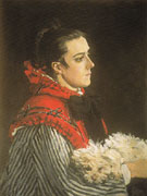 Camille with a Small Dog 1866 - Claude Monet