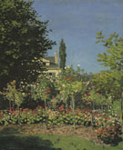 Garden in Bloom at Sainte Adresse 1866 - Claude Monet reproduction oil painting