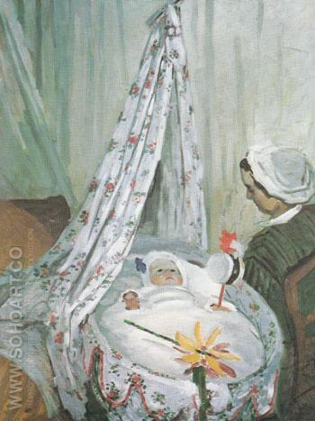 The Cradle Camille with the Artists Son Jean 1867 - Claude Monet reproduction oil painting
