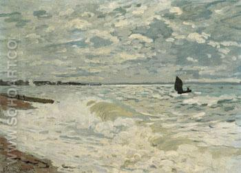 The Sea at Le Havre 1868 - Claude Monet reproduction oil painting