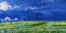 Wheatfields Under Thunderclouds 1890 - Vincent van Gogh reproduction oil painting
