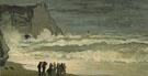 Rough Sea at Etretat 1868 - Claude Monet