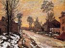 Road to Louveciennes Melting Snow Sunset 1870 - Claude Monet