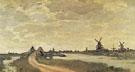 Windmills at Haalderabroek 1871 - Claude Monet