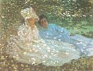Mme Monet with a Friend in the Garden 1872 - Claude Monet