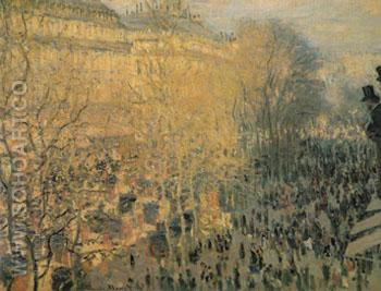 Boulevaed des Capucines Paris February 1873 - Claude Monet reproduction oil painting