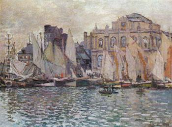 The Harbour Le Havre 1873 - Claude Monet reproduction oil painting