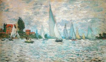 The Barks Regatta at Argenteuil 1874 - Claude Monet reproduction oil painting