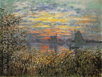 Marine View Sunset 1874 - Claude Monet reproduction oil painting