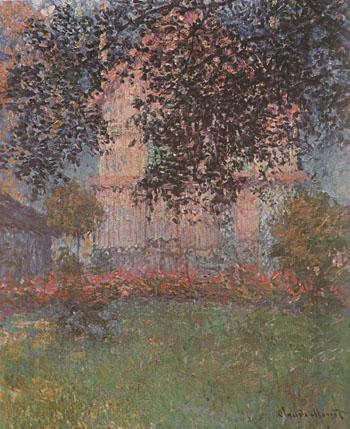 Monets House at Argenteuil 1876 - Claude Monet reproduction oil painting