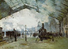The Gare Saint Lazare 1876 - Claude Monet reproduction oil painting