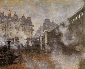 The Pont de I Europe  1876 - Claude Monet reproduction oil painting