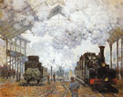 Gare Saint Lazare Arrival of a Train 1877 - Claude Monet